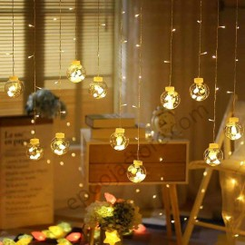 Indoor and Outdoor Window Curtain String Lights