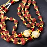 Diamond Rudraksha Mala (25 Inchs)