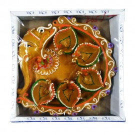 Decorated Ganesha Diya