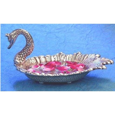 Decorated and Multipurpose Oxidised Swan Tray