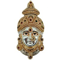 Decorative Ammavari Face (Silver Colour)