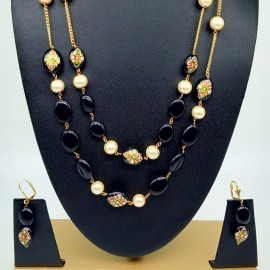 Designer Glass Beads Necklace Set