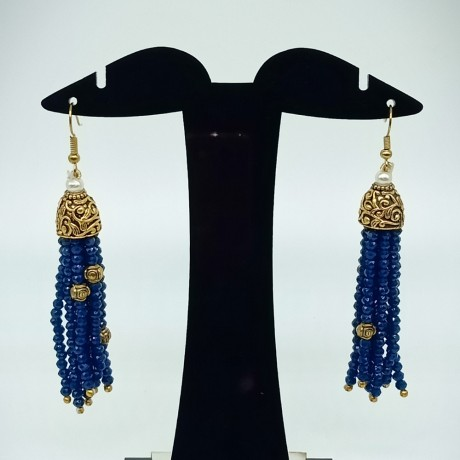 Semi Precious Sapphire Necklace Set (10 Layers)