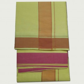 Yellow Colour Cotton Dhothi (9*5)