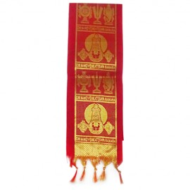 Namo Border Zari  Kanduva (Red)  (Pack of 2)