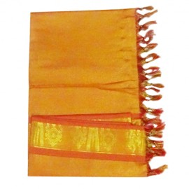 Namo Border Zari Shawl ( Golden red)