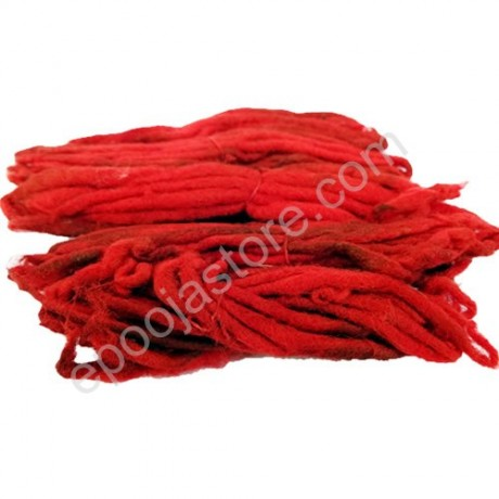 Red Cotton Wicks (Erupu Vattulu) (10 Packs)