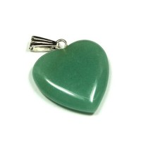 Green Aventurine Heart Pendant (For Luck)