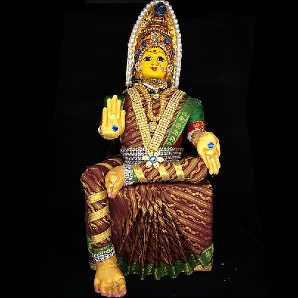 Varalakshmidevi  Idol Set (Maroon Colour)