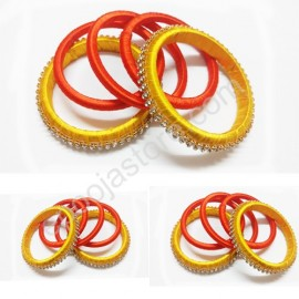 Yellow and Orange Colour Bangles