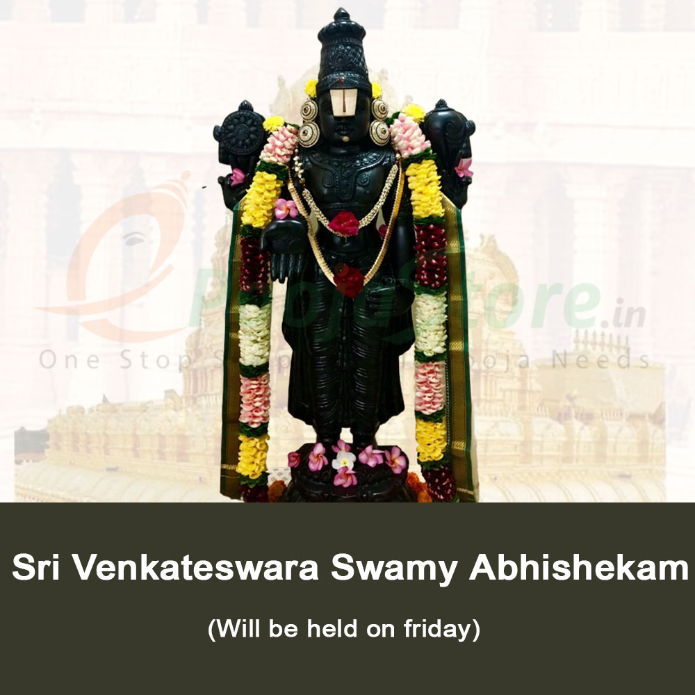 Sri Venkateswara Swamy Abhishekam (Every Friday)
