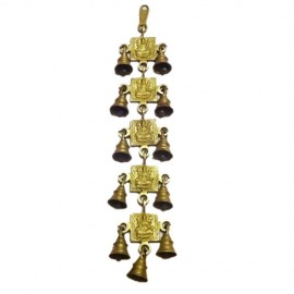 Wall Hanging of Lakshmi Devi with 9 Bells