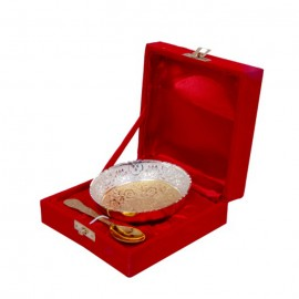Gold & Silver Plated Brass Traditional  Bowl 4'' Diameter