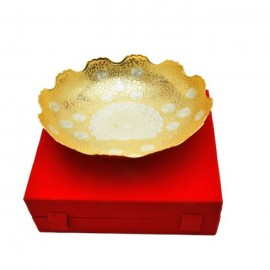 "Silver & Gold Plated Fruit Bowl 10"" Diameter"
