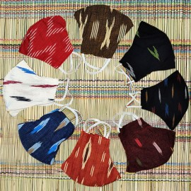 Ikkat & Handloom Cotton Masks (Pack of 8)