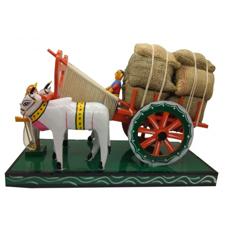Bullock Cart Carrying Harvest (Big)