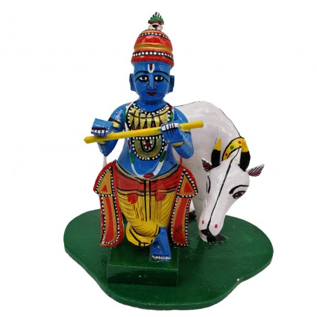 Sri Krishna With Cow