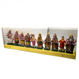 Dasavatharam Set In Acrylic Box