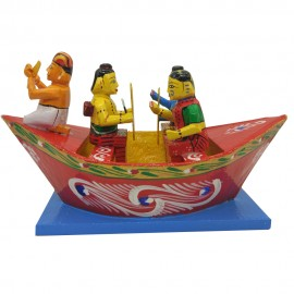 Rama Parivar Sailing in the Boat