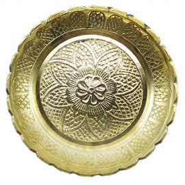 Pure Brass Vastu Fengshui Tortoise With Plate For Good Luck (Small)