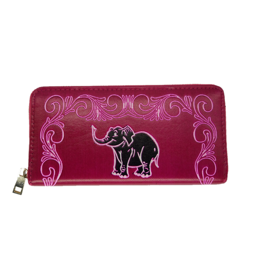 Women's PU Leather Pink Wallet Purse Trendy Design Credit Card and  Cash Clutch Big size