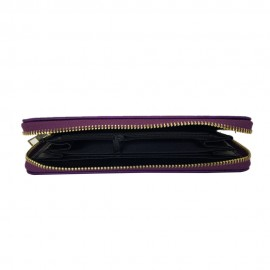 Women's PU Leather Purple Wallet Purse Trendy Design Credit Card and  Cash Clutch Big size