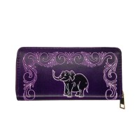 PU Leather Purple Wallet
