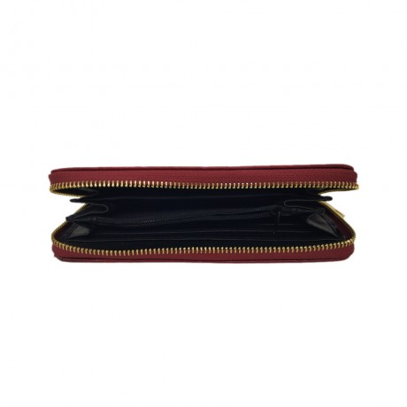 PU Leather Red Wallet